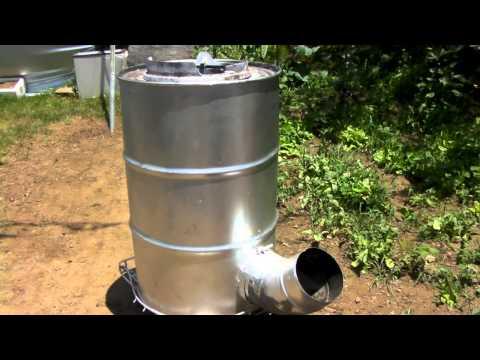 ドラム缶ロケットストーブの制作