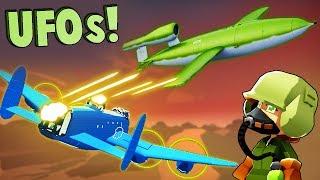 GERMAN UFOs vs NEW Elite Bomber Crew  (Bomber Crew Gameplay)