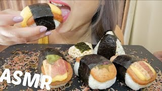 SPAM Musubi Hawaiian Musubi | ASMR Relaxing Soft Eating Sounds | N.E Let's Eat