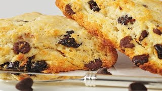 Chocolate Chip Scones Recipe Demonstration - Joyofbaking.com