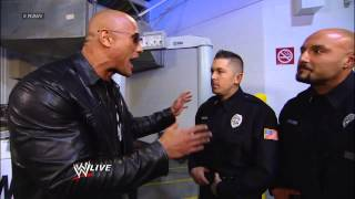 Vickie Guerrero bans The Rock from entering the HP Pavilion: Raw, Jan 21, 2013