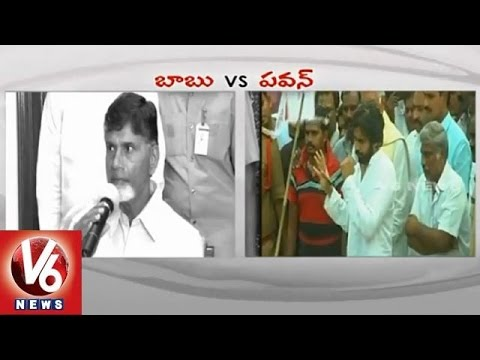 War of Words between AP CM Chandrababu and Janasena Chief Pawan Kalyan 05032015