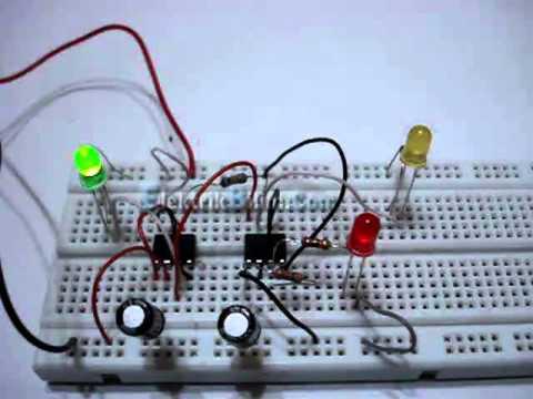 NE 555 Ile Trafik Lambası Uygulaması