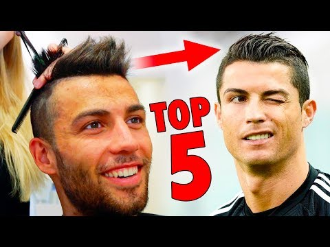 Mens hairstyles - TOP 5 Cristiano Ronaldo Hairstyles - Best Football Players Haircuts