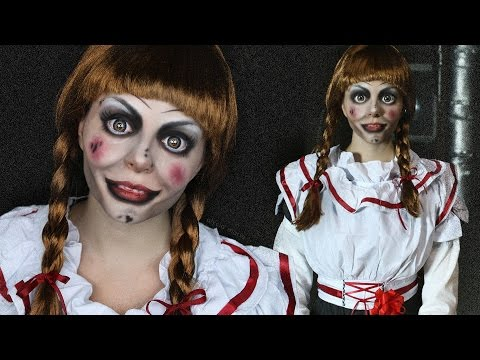 CREEPY DOLL Makeup Tutorial - ANNABELLE - The Conjuring