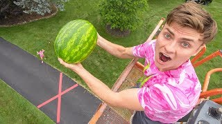 Video DROPPING WATERMELON 45FT!! MP3, 3GP, MP4, WEBM, AVI, FLV Juni 2018