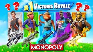 SKIN MONOPOLY ALÉATOIRE CHALLENGE ! Défi FORTNITE Battle Royale
