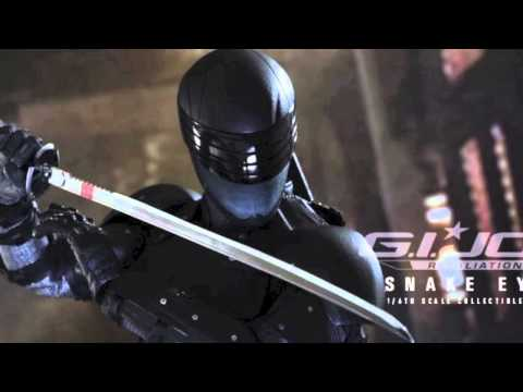 G.I. Joe Retaliation Hot Toys Snake Eyes 1/6 Scale Movie Collectible Figure Pics & Details!