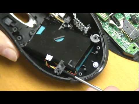 Logitech MX 1000 Mouse replace Battery - how to