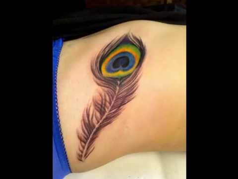 Beautiful Bird Feather Tattoo Designs