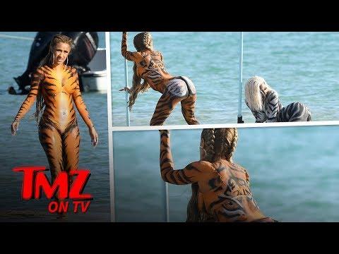 Cardi B Shoots A WILD Video In Full body Paint | TMZ TV