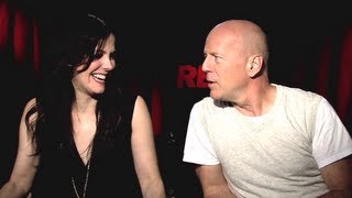 Bruce Willis&Mary-Louise Parker Interview - Red 2 (JoBlo.com)