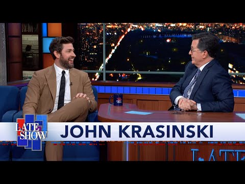 John Krasinski Teaches Stephen Colbert How To Do A Proper Boston Accent