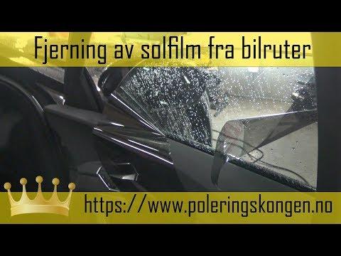 Fjerning av solfilm fra bilruter