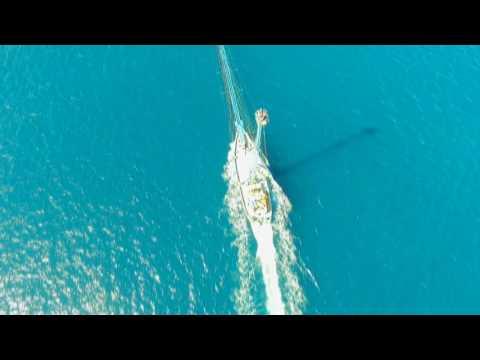 feluca in caccia nello stretto: immagini aeree straordinarie!