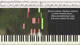 Шумел камыш (Ноты и Видеоурок для фортепиано) (piano cover)