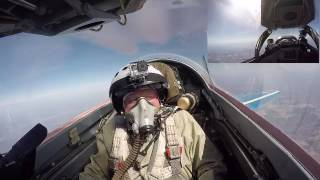 Terrific Mig29 Flight to Stratopshere and amazing view from cockpit
