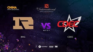 RNG vs CDEC, TI9 Qualifiers EU, bo3, game1 [Lost & Adekvat]