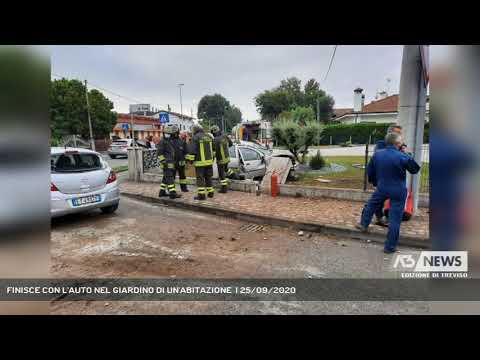 FINISCE CON L'AUTO NEL GIARDINO DI UN'ABITAZIONE  | 25/09/2020