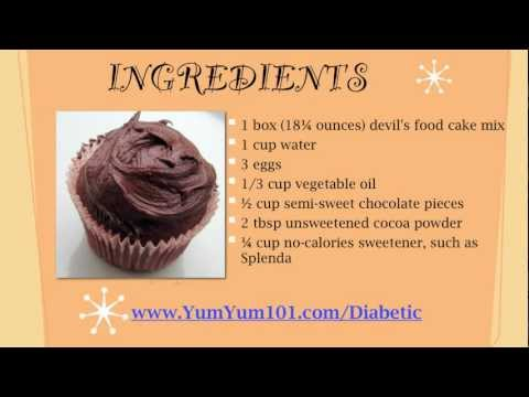 Diabetic Recipes | Decadent Double Chocolate Cupcakes