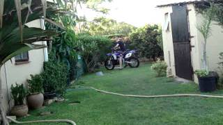 8. 2012 yamaha YZ250F: riding with a broken femur.