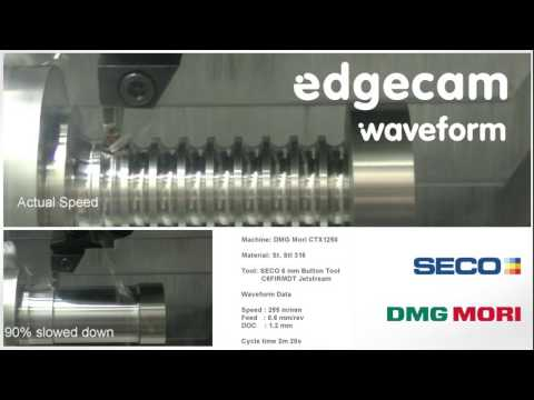 Edgecam Waveform Turning (видео)