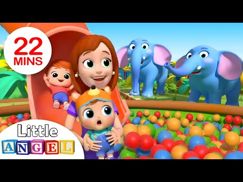 Fun with Animals at the Zoo | Zoo Song | +More Nursery Rhymes by Little Angel
