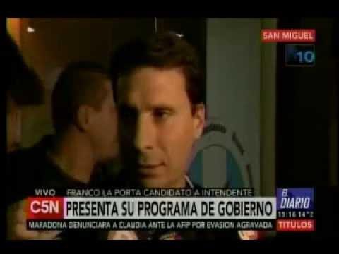 (CANAL C5N) LA PORTA PRESENTÓ SUS PROPUESTAS PARA SAN MIGUEL
