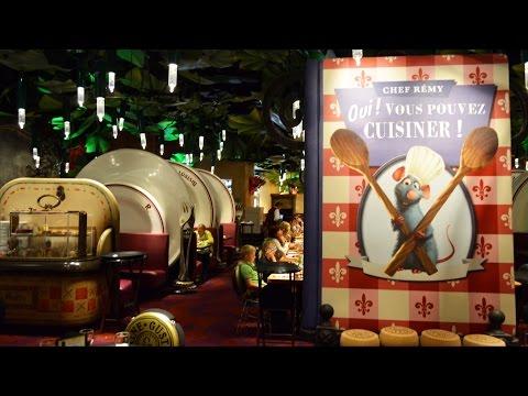 Bistrot Chez Remy Tour at Walt Disney Studios Disneyland Paris in La Place de Rémy – Decor, Food