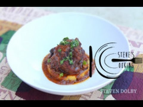 Braised Oxtail with grilled Polenta and Gremolata recipe