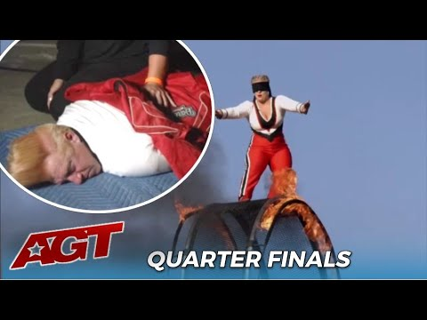 Stunt Artist Bello Nock Falls In Rehearsal But Daughter Steps In And Nearly KILLS Herself