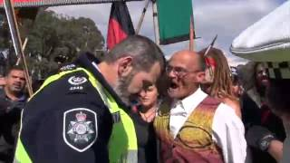 Taser incident at the Frontier Wars March - ANZAC Day 2015