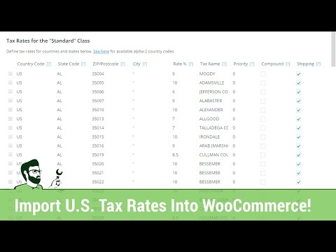 How to Quickly Import US Tax Rates into WooCommerce