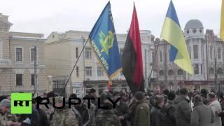 «Правый сектор» устроил акцию протеста против переименования Кировограда в Елисаветград