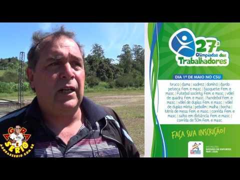 Mauro Ramos Secretário de Esportes convida a população para as Olimpíadas dos Trabalhadores 2017