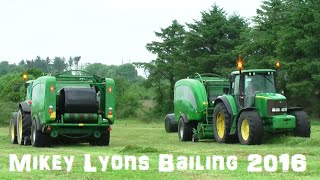 Mikey Lyons Bailing with two McHale Fusion 3 and powered by two John Deere 6920s and John Deere 6820 on the Rake in Kilmorna Co Kerry.Please Subscribe and like and also Follow on Twitter @agri_jmLike on Facebook JM Agri Videos