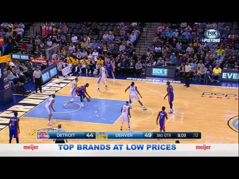 Shows - Detroit Pistons vs Denver Nuggets (October 29, 2014). In the Pistons' first game of the Stan Van Gundy era, Drummond impresses with his back to the basket, in spite of limited minutes due to...