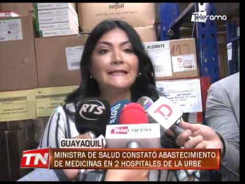 Ministra de Salud constató abastecimiento de medicinas en 2 hospitales de la urbe