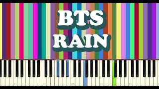 Video BTS(방탄소년단) - RAIN piano cover MP3, 3GP, MP4, WEBM, AVI, FLV April 2018
