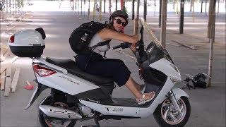 10. SYM JoyRide 200cc scooter 2018 (test drive)
