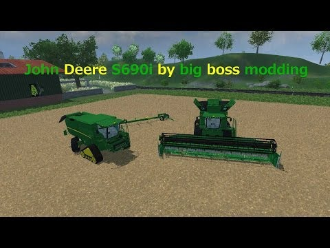 MOD REVIEW John Deere S690i by big boss modding farming simulator 2013
