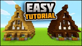 Minecraft: Simple, Easy, Efficient Survival House Tutorial   How To Make A Small Survival House!