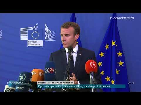 EU-Sondertreffen: Statements von Emmanuel Macron und Alexis Tsipras