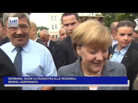 GERMANIA: BOOM ULTRADESTRA ALLE REGIONALI. MERKEL SORPASSATA