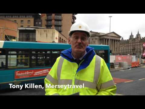 Update On Resurfacing Works At Queen Square Bus Station In Liverpool
