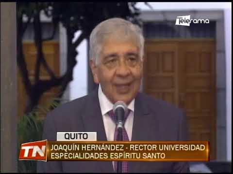 Presidente Lasso y rectores de universidades por las reformas a los LOES