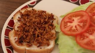 Vegan Bacon Lettuce and Tomato Sandwich Recipe - Vegetarian BLT - V BLT