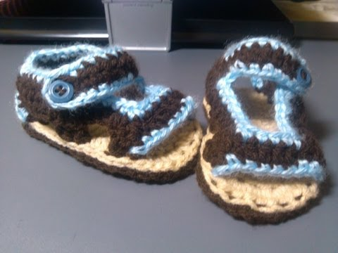 crochet baby sandals part two and final part