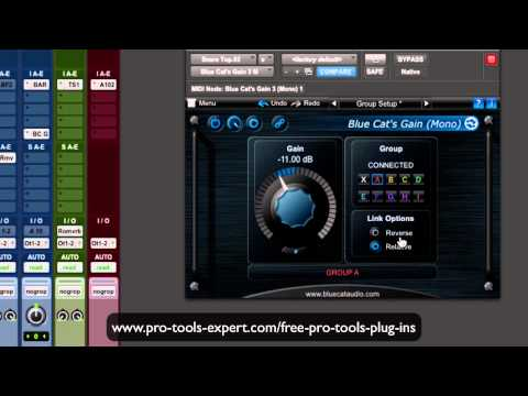 FREE Pro Tools Plug In Focus – Blue Cat Gain Suite