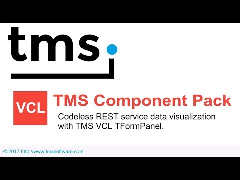 Codeless REST service data visualization with TMS VCL TFormPanel
